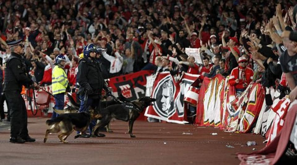 There were reports of disturbance during the Europa League match between Arsenal and FC Cologne in September.