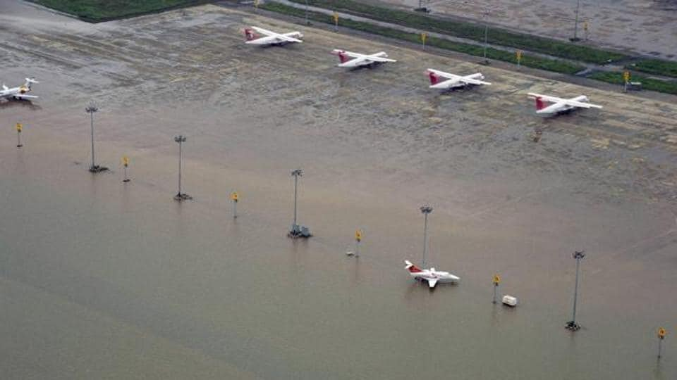 File photo of Chennai airport flooded due to heavy rain inDecember 2015.