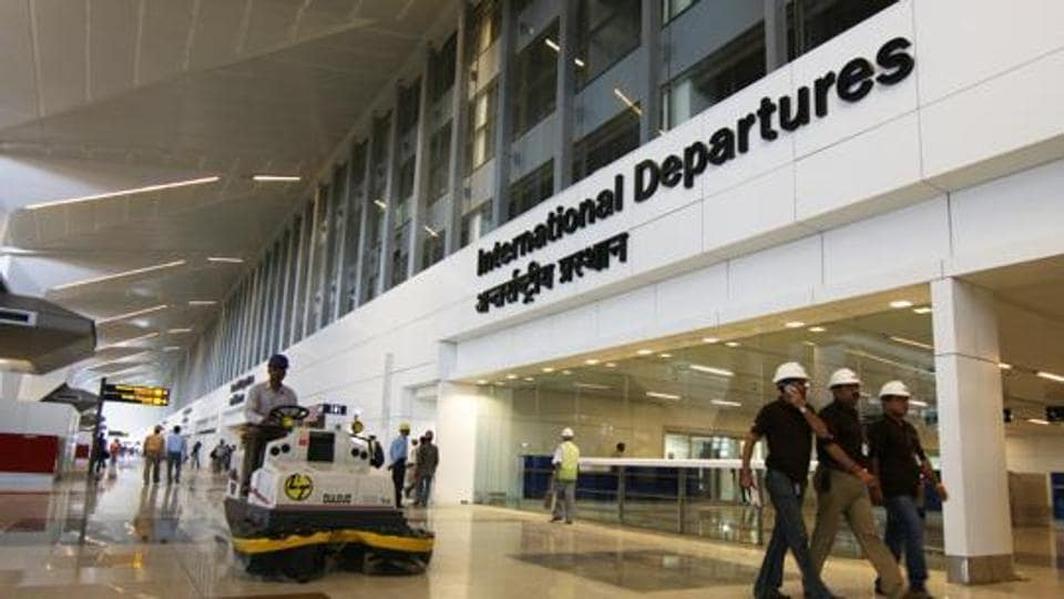 A view of the newly built Terminal-3 of the Indira Gandhi International Airport in New Delhi.