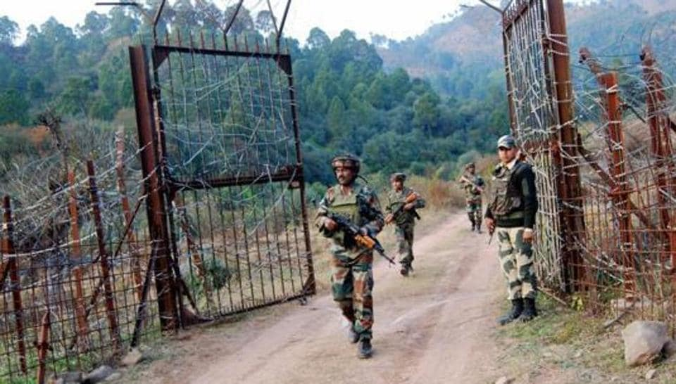 Soldiers at the Line of Control (LoC) in Poonch in Jammu and Kashmir.