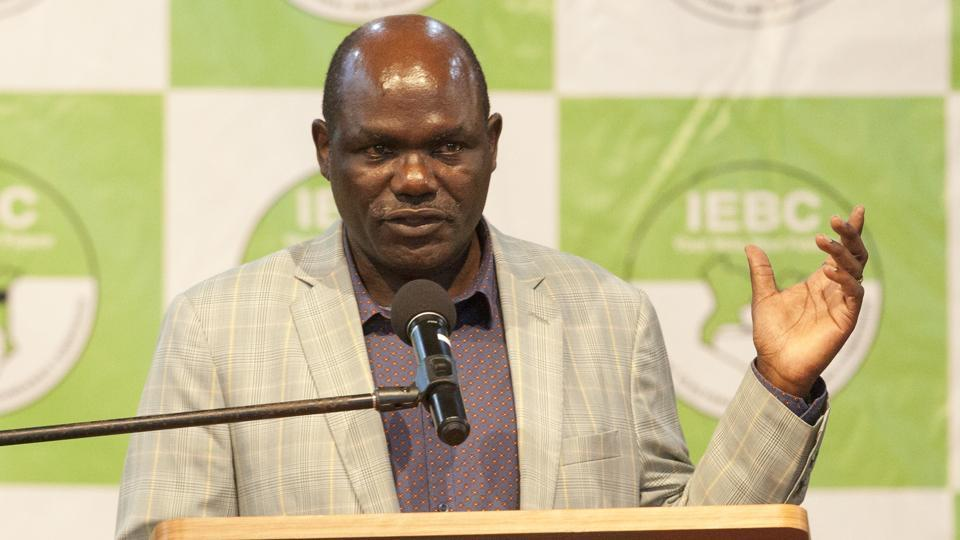 IEBC chief Wafula Chebukati, briefs media about the vote counting, in Nairobi on October 29, 2017. Chebukati had previously said he could not guarantee the credibility of the vote, but declared Sunday that the election was held with a turnout of 7.4 million people, equivalent to just 43% of voters in 251 of the 266 constituencies. He would soon announce a plan for four out of Kenya's 47 counties where voting was postponed. (Sayyid Abdul Azim / AP)