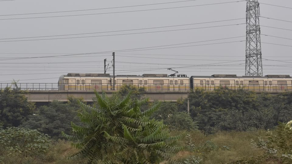 Gurgaon, India - Oct. 29, 2017: A general view of Delhi Metro Rail, in Gurgaon, India, on Sunday, October 29, 2017. (Photo by Sanjeev Verma/ Hindustan Times)