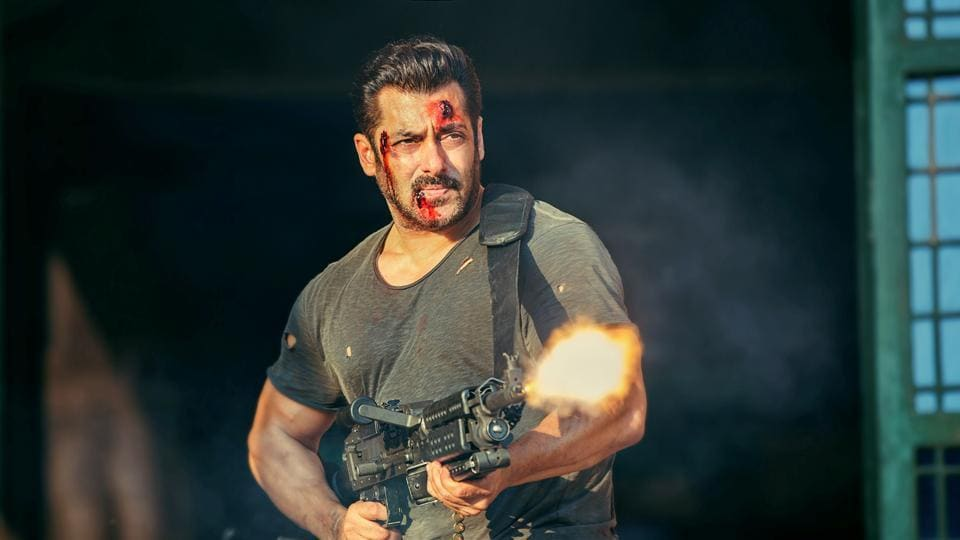 Salman Khan in an action-packed scene from Tiger Zinda Hai.
