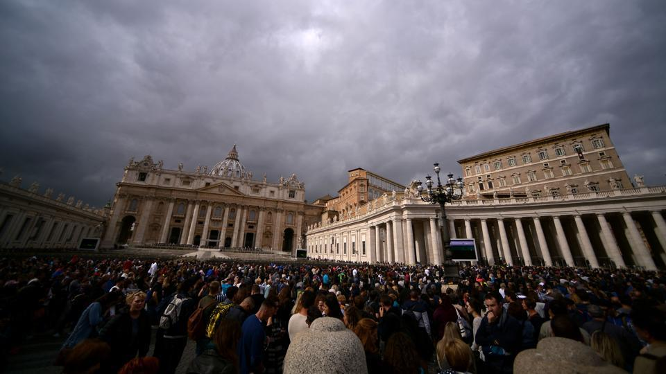 A view of the St Peter's Square in Vatican on October 29.