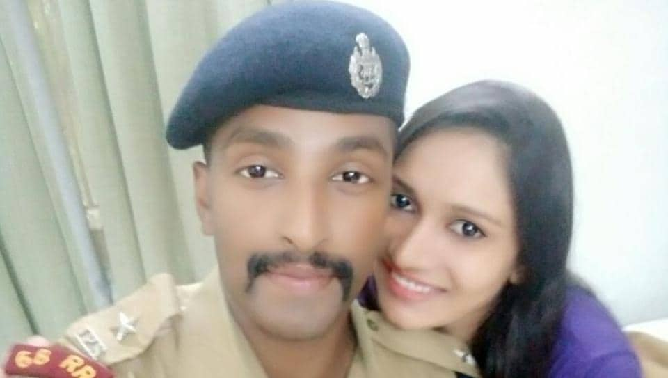 IPS officer Safeer Karim with his wife Joicy Joyce.