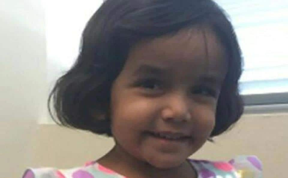 Sherin Mathews was adopted last year by the Indian-American couple, Wesley Mathews and Sini Mathews from an orphanage in Bihar.