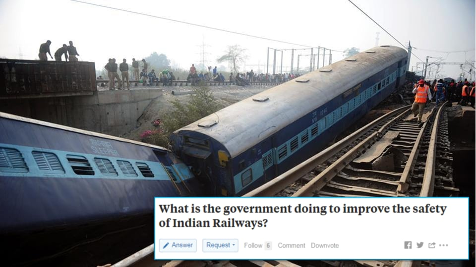 """Piyush Goyal's comprehensive reply was full of charts and photographs and dealt with various aspects of how his ministry has """"made safety the number one priority"""""""