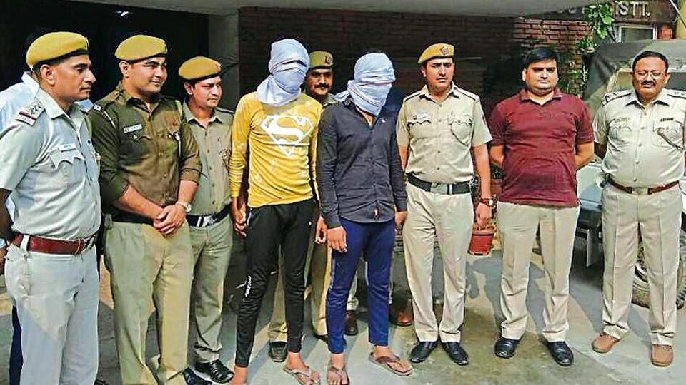 Navin Singh, 20, and Akash Choudhary alias Ashu, 21, in police custody.