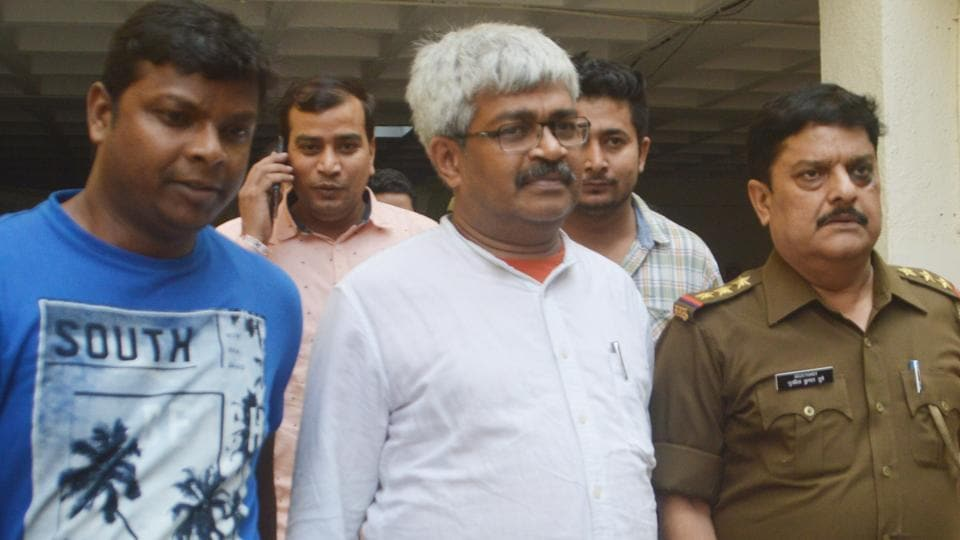 Journalist Vinod Verma was arrested and produced before a Ghaziabad court which allowed his transit remand to be taken to Chhattisgarh in Ghaziabad on Friday.