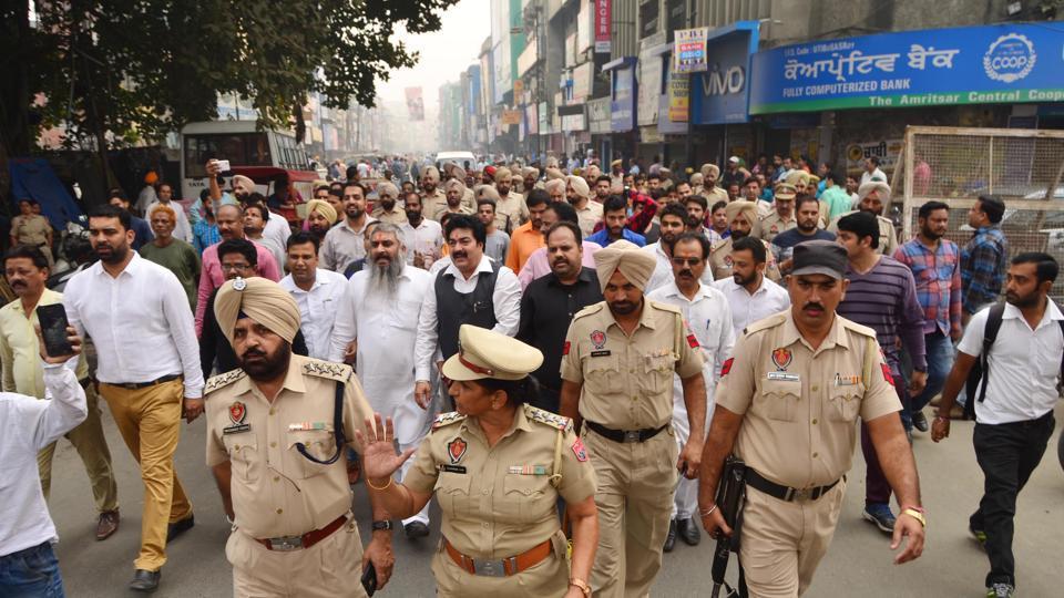 Amritsar news,Hindu activists,Hindus protest