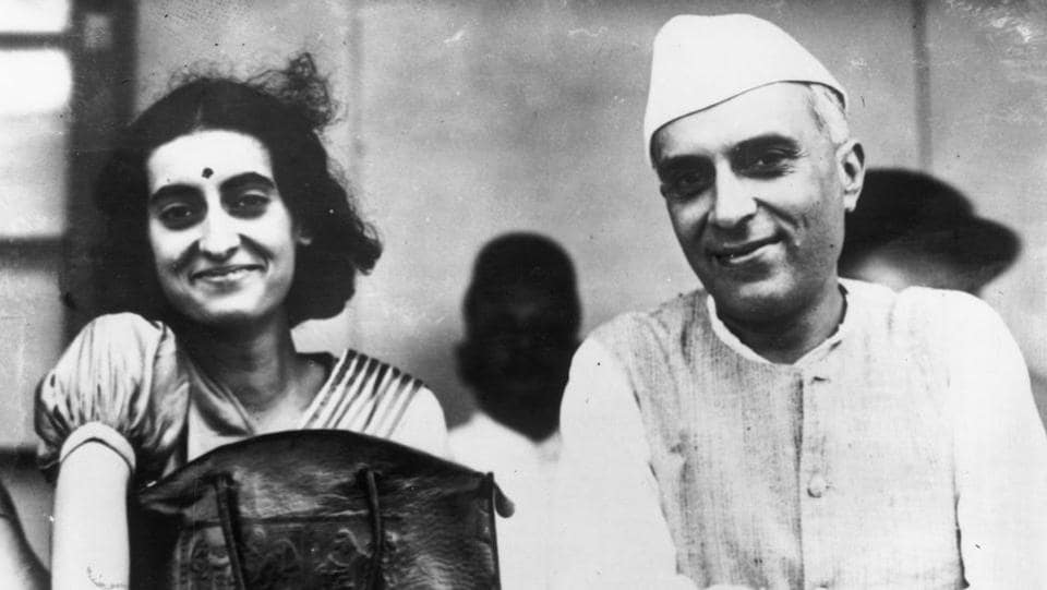 Jawaharlal Nehru , president of the Indian Congress, with his daughter and future Indian Prime Minister, Indira Nehru in Bombay in 1937. Being the only daughter, Indira had a difficult childhood between her father being away from home on his political crusade for India's independence and her bedridden mother who suffered an early death due to tuberculosis. (Keystone / Getty Images)