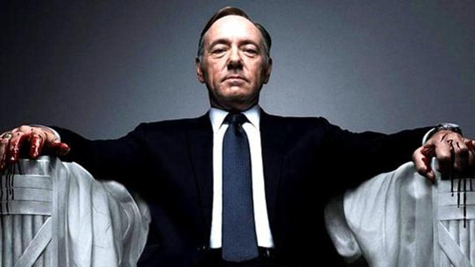 Kevin Spacey  stars in hit Netflix TV series House of Cards.