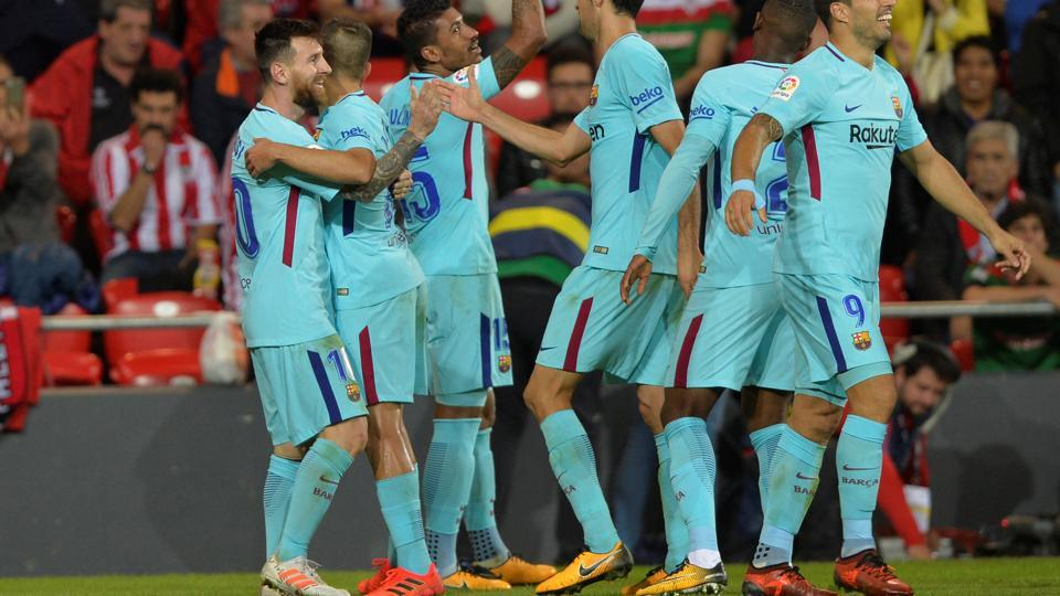 Barcelona can enter UEFA Champions League last 16 on Tuesday, but they need to win against Olympiacos.
