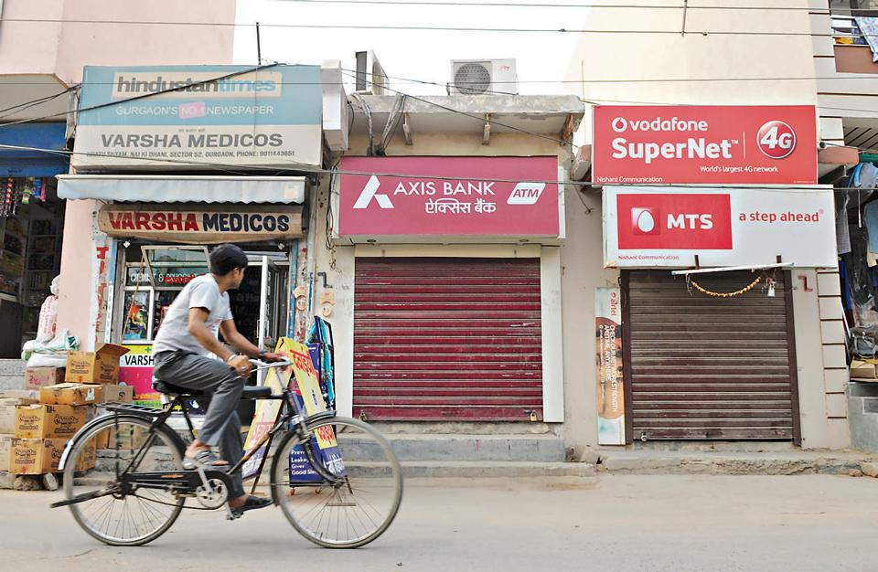 There are nearly 1,300 ATMs in Gurgaon.