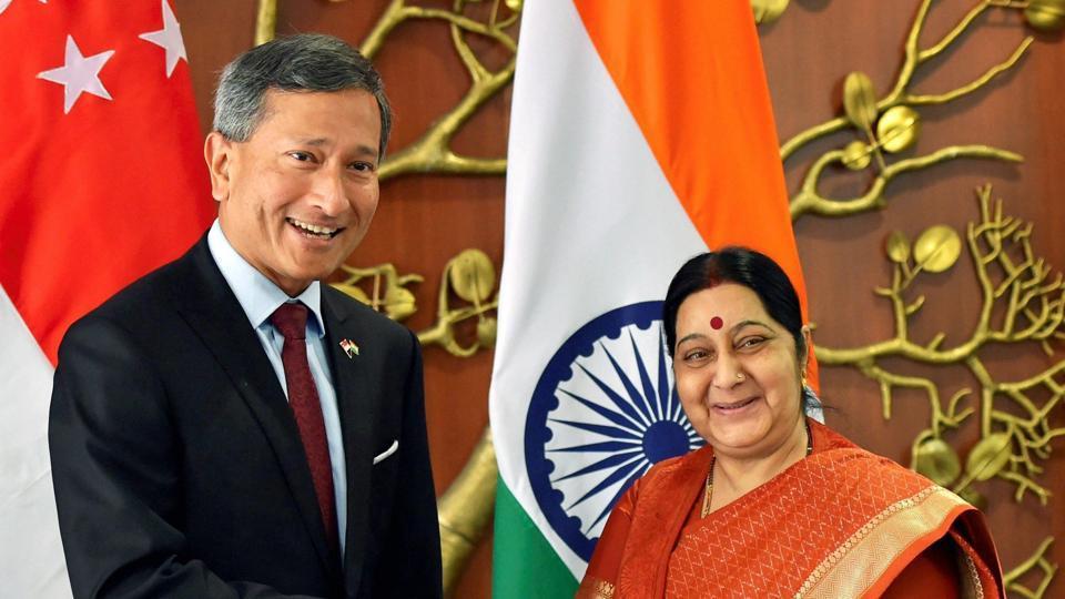 Sushma Swaraj,Vivian Balakrishnan,Ministry of External Affairs