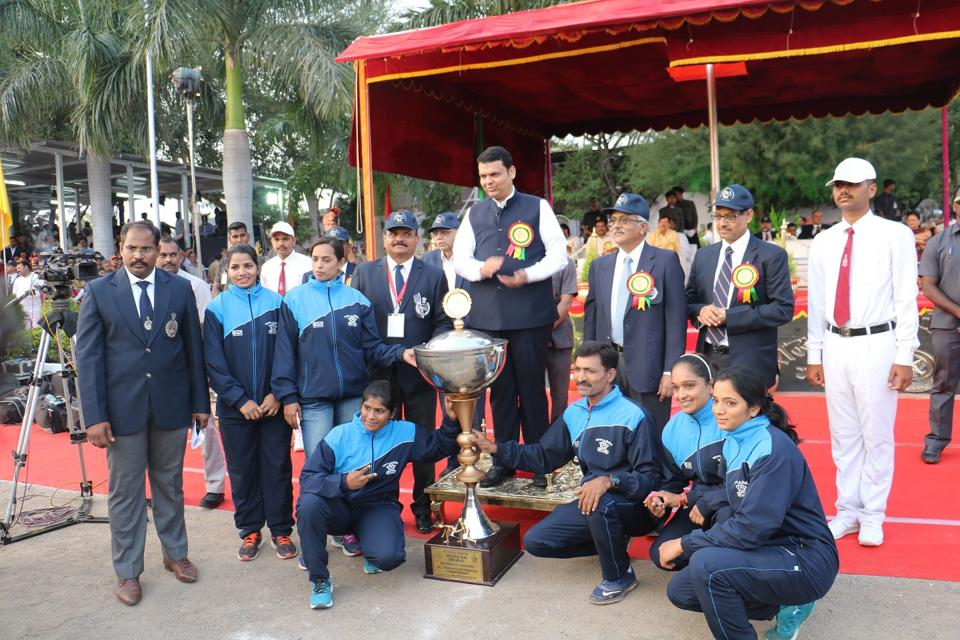 Chief minister Devendra Fadnavis felicitated winners of various events at the valedictory function of the 66th All-India Police Wrestling Cluster Championship on Tuesday.