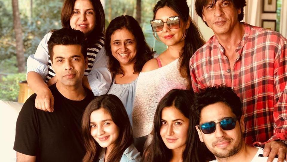 Karan Johar, Alia Bhatt, Katrina Kaif, Sidharth Malhotra, Farah Khan, Gauri Khan are in Alibaug for Shah Rukh Khan's birthday.