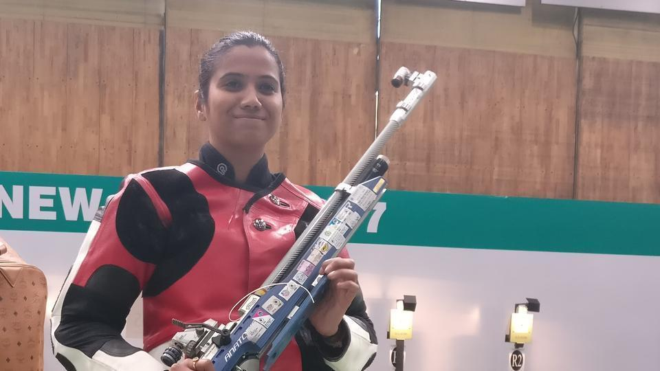 Pooja Ghatkar won gold in the women's 10m air rifle event at the Commonwealth Shooting Championships.