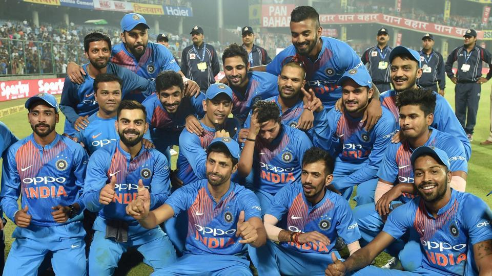 Ashish Nehra was given a fitting farewell in his final international game as Indian cricket team finally broke the jinx in Twenty20 Internationals against New Zealand by registering a 53-run win at the Kotla.  (PTI)