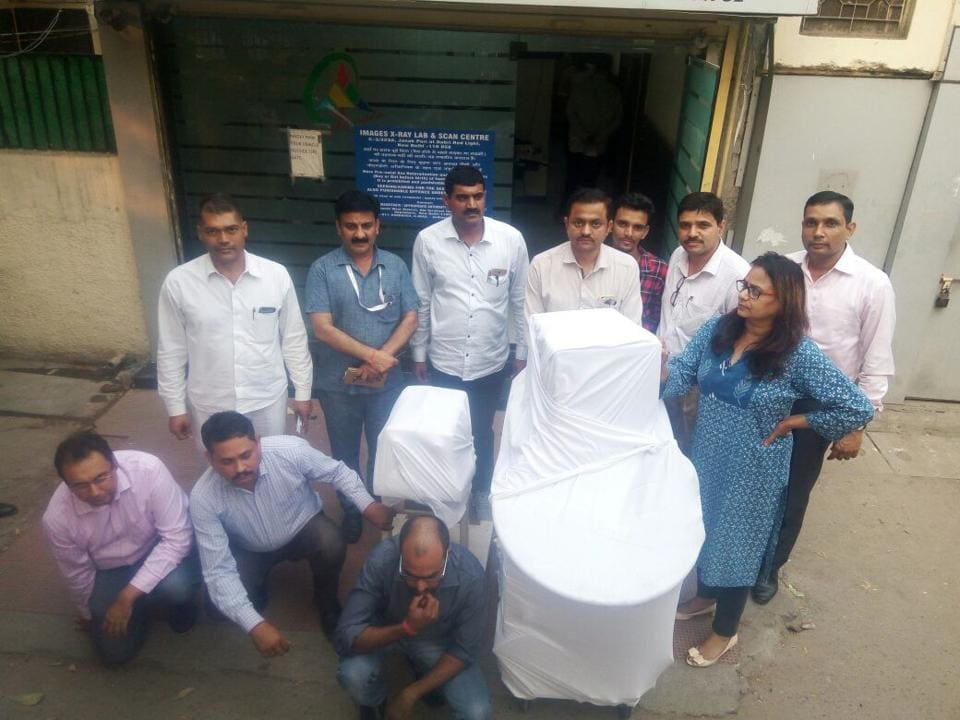 Amandeep Chauhan, drug controller, Gurgaon, who led the team, said that the utlrasound machine has been sealed and three persons arrested by Delhi police.