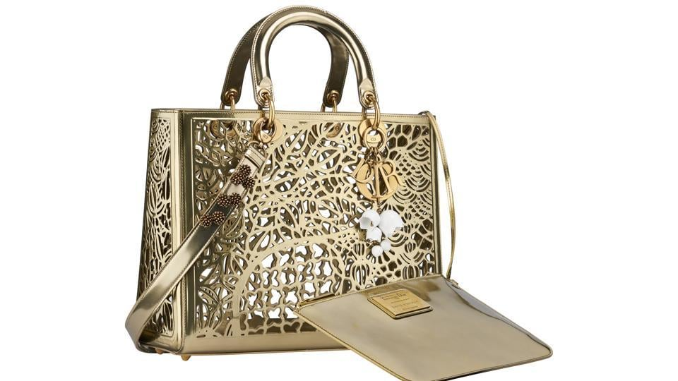 One of the two Lady Dior bags designed by David Wiseman — Dior Lady Art #2.
