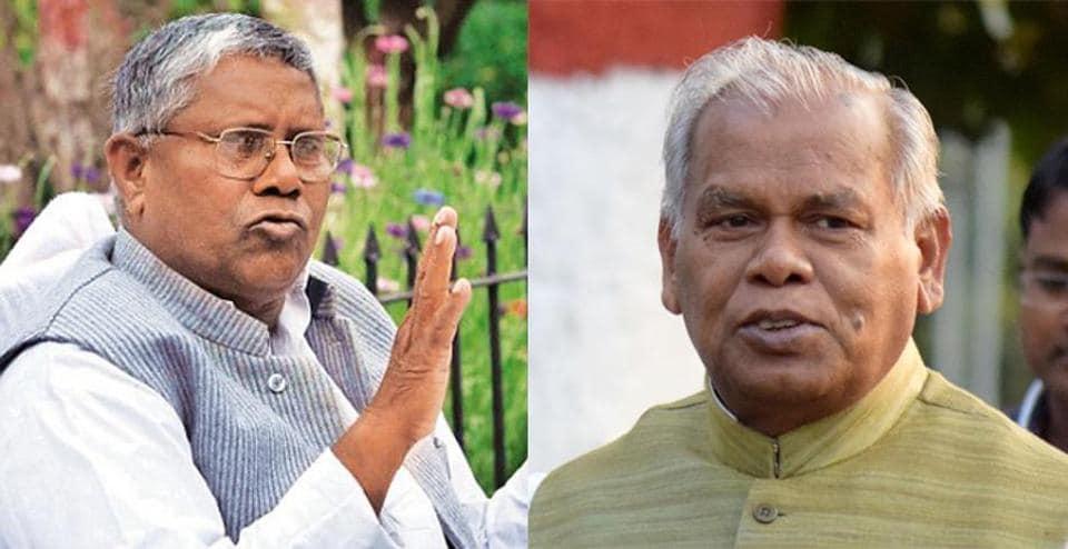 ATLOGGERHEADS:Dalit leaders Uday Narayan Choudhary (left) and Jitan Ram Manjhi.