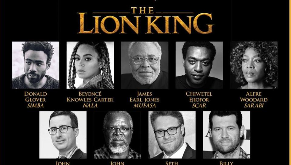 Beyonce Jon Oliver Seth Rogen And More Disney Confirms