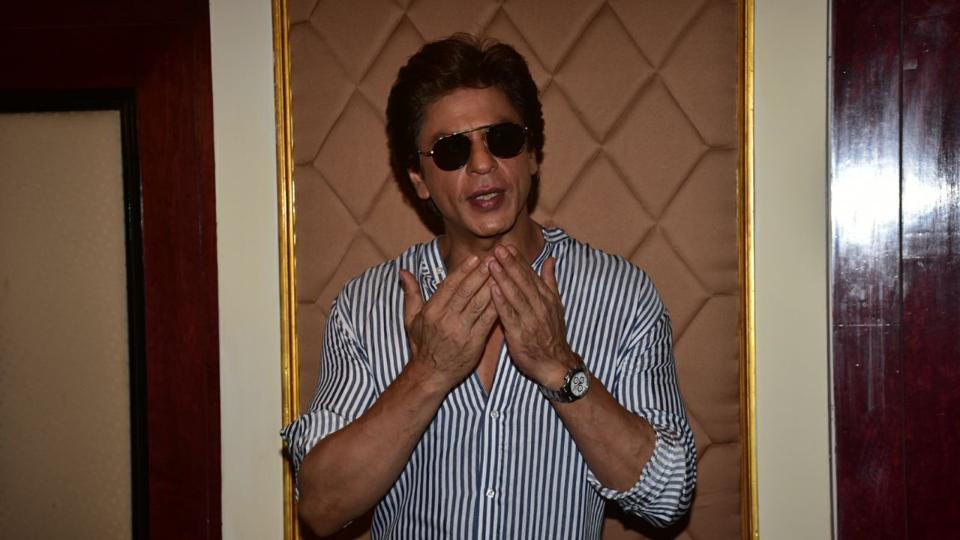 Shah Rukh Khan at an event to celebrate the 21 years of TVshow Aap Ki Adalat in Delhi.