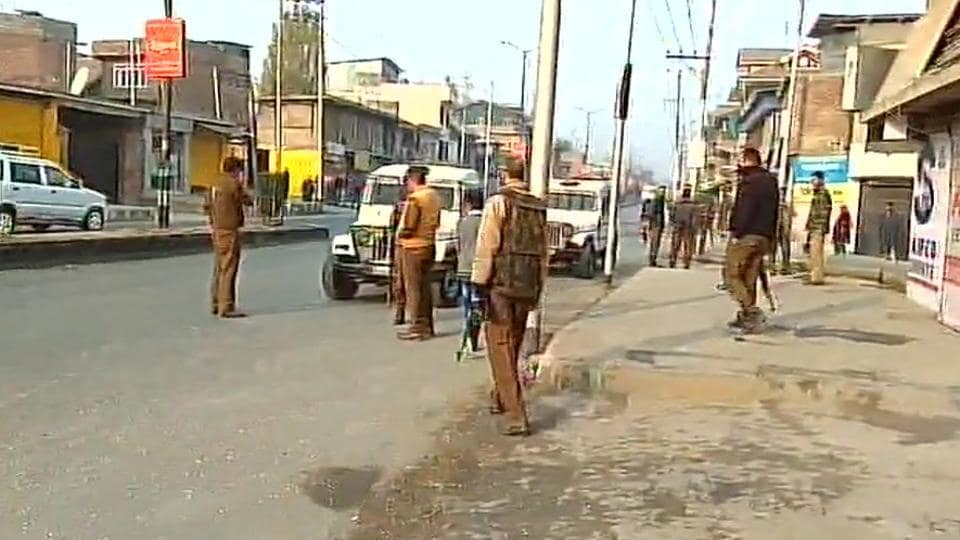 A CRPFconvoy was attacked in Anantnag district of south Kashmir on Thursday. (ANITwitter)