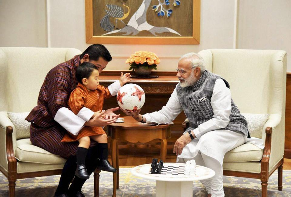India can't get enough of the one-year-old Bhutan Crown Prince.