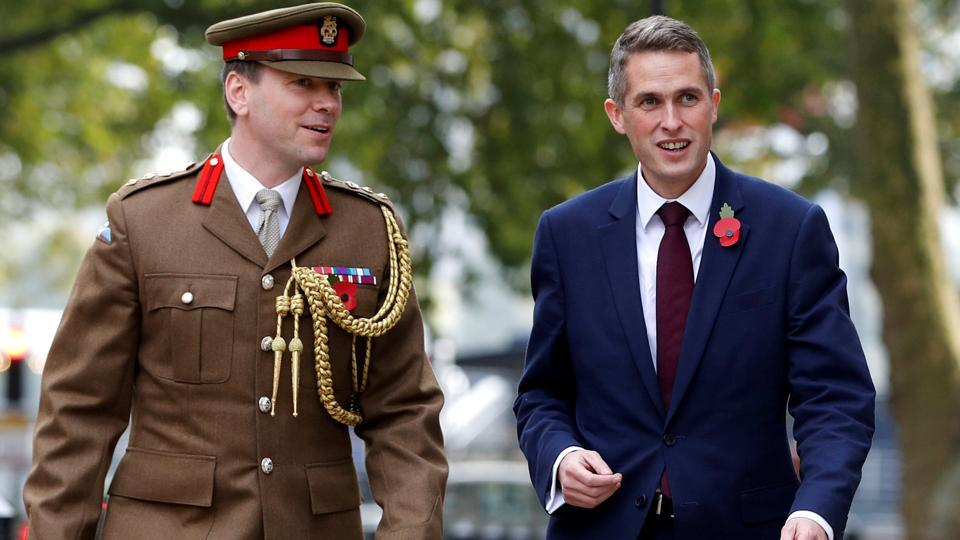 Britain's Secretary of State for Defence Gavin Williamson arrives at the Ministry of Defence, London, Britain, November 2, 2017.