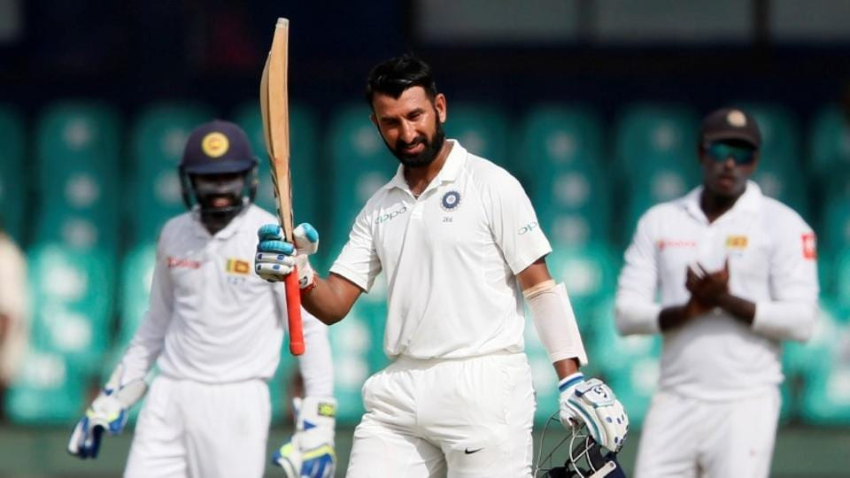 Cheteshwar Pujara slammed his 12th double ton in first-class cricket, creating a new Indian record as he overhauled Vijay Merchant's tally of 11.