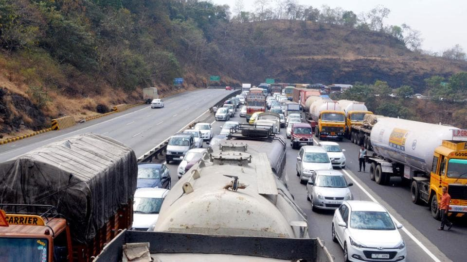 One of the biggest problems on the expressway is heavy vehicles, which have to, as per rules, drive in the third lane, but they invariably use all three lanes, slowing down other vehicles.