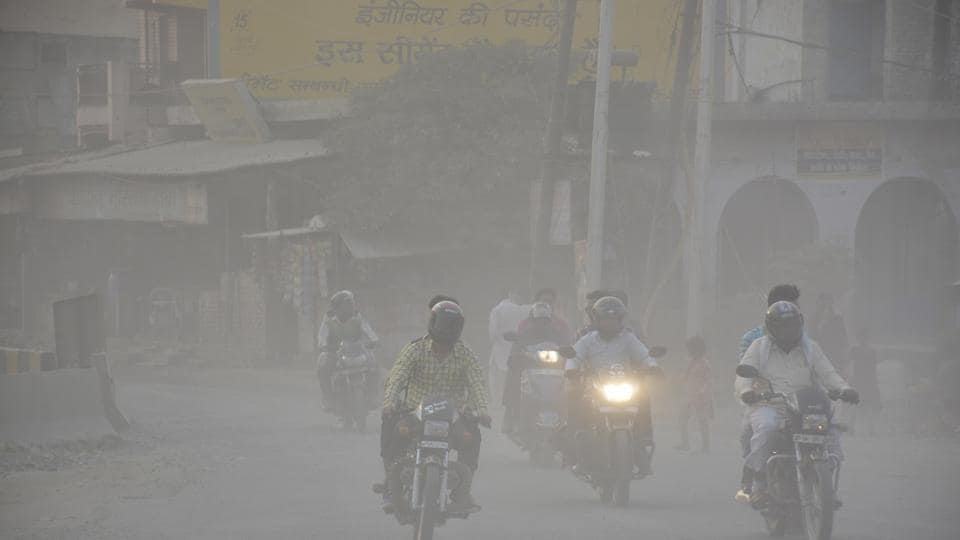 The AQI  in Ghaziabad stood at 404 on October 30 with Bhiwadi coming second with 386. On October 31, the AQI was 439.