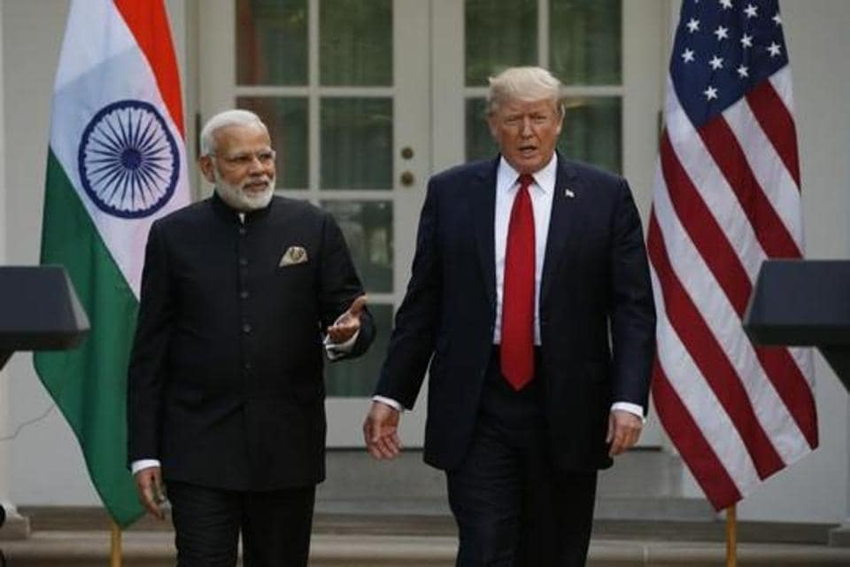 USPresident Donald Trump and Indian Prime Minister NarendraModi. Washington cancelled the 2+2 talks scheduled for July 6 involving the foreign and defence ministers because it believed the BJP government was going off script.
