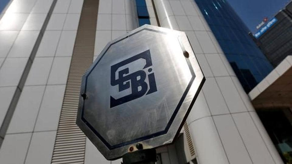 The logo of the Securities and Exchange Board of India (SEBI) is pictured on the premises of its headquarters in Mumbai, March 1, 2017.
