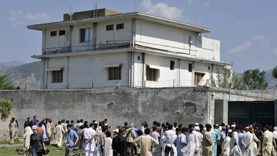 The house in Abbottabad where Al Qaeda chief OSama bin Laden was killed by US Special Forces.
