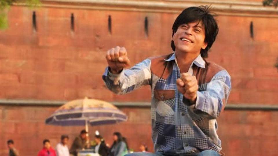 Shah Rukh Khan in a still from Fan.