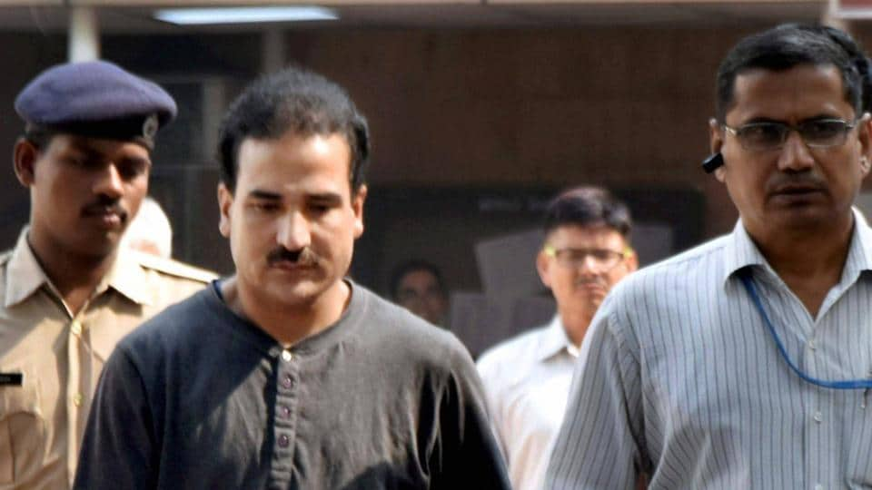 Syed Salahuddin's son Syed Shahid Yousuf, who was arrested by the NIA, being produced at the Patiala House Court in New Delhi.