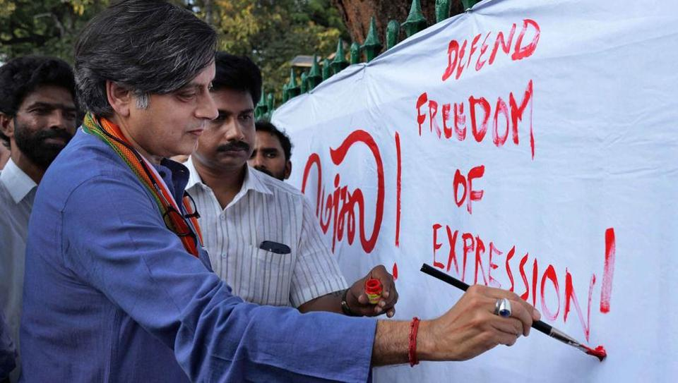 Congress MP Shashi Tharoor at an event in Thiruvananthapuram.