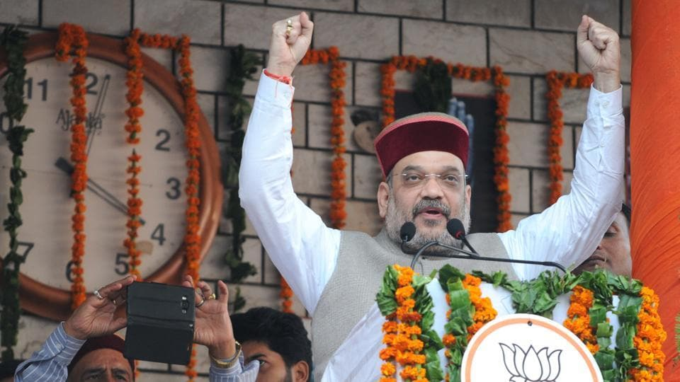 BJP president Amit Shah will address a rally to be attended by more than one lakh party workers. (Anil Dayal / HTPhoto)