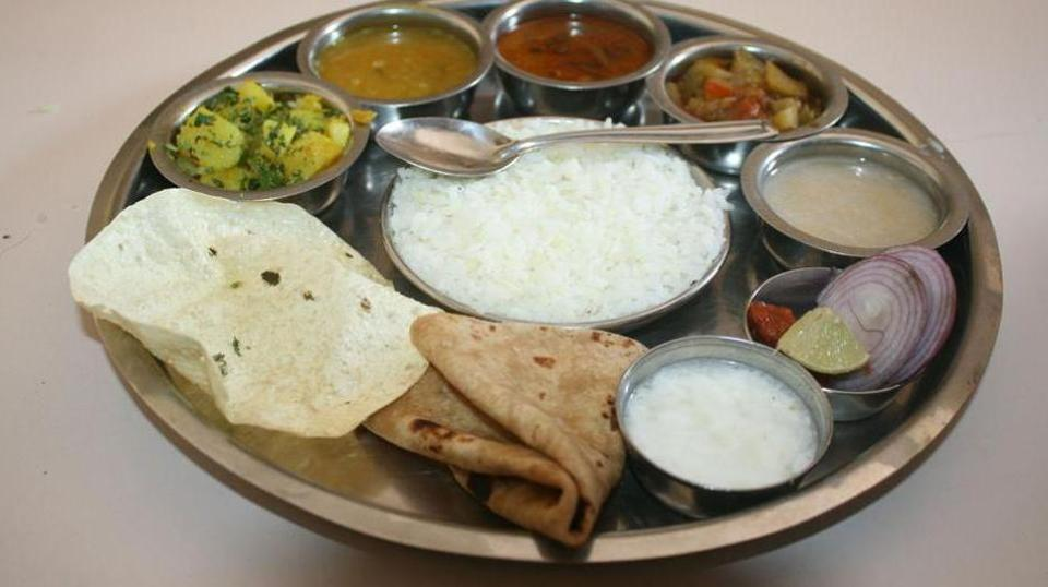 A traditional Indian thali.
