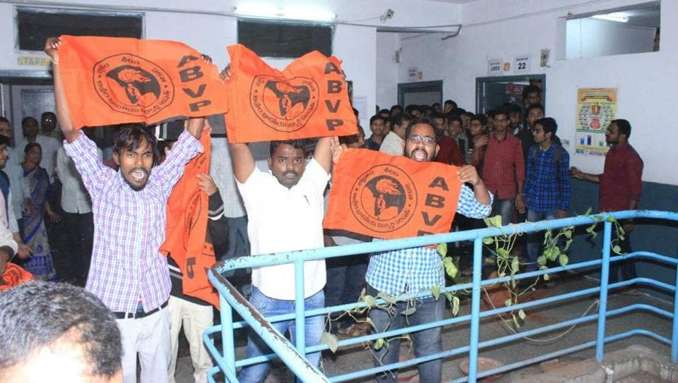 Hyderabad: Police arrest six ABVP members