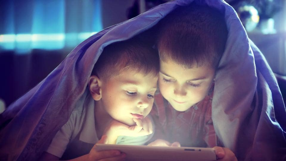 Time spent on screens reduces time spent sleeping.