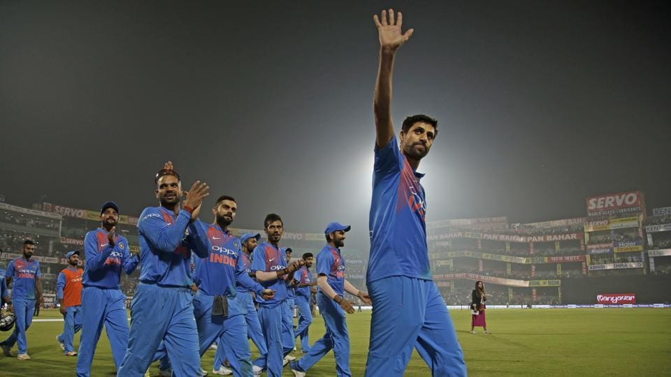 Ashish Nehra played his final cricket match at the Feroz Shah Kotla in New Delhi against New Zealand in a Twenty20 International. Nehra made his international debut in 1999 and bowed out of cricket after 18 years of playing. (Altaf Qadri / AP)