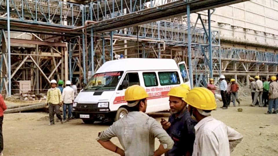 The NTPC's Unchahar Power Plant where a blast took place, in Raebareli district, on Wednesday.