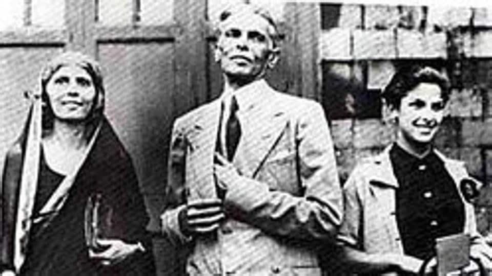 Mohammed Ali Jinnah with his sister Fatima and daughter Dina (right).