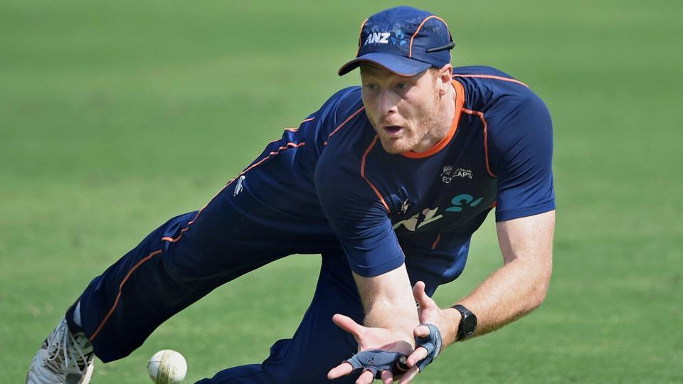 Martin Guptill pictured during training in Rajkot on Friday. (PTI)