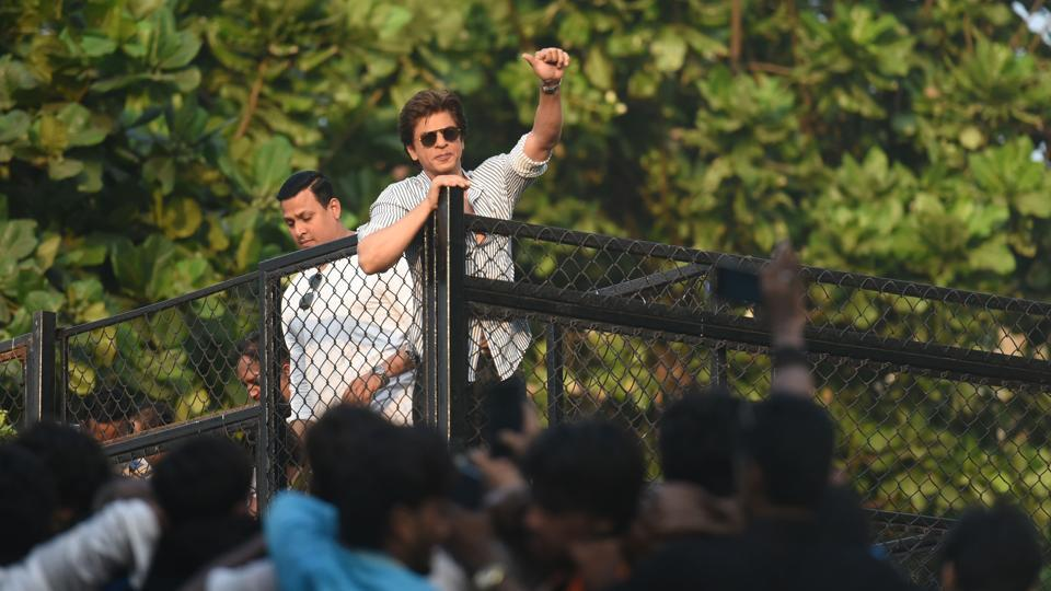 Shah Rukh Khan greets fans on his 52nd birthday.
