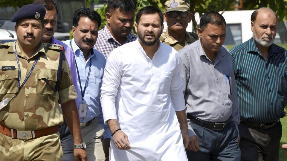 Former Bihar deputy CM Tejashwi Yadav in New Delhi.